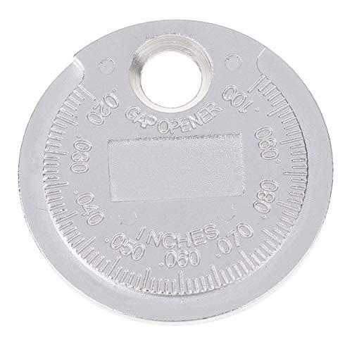 Frieed 1pc 0.6-2.4mm Gamma Spark Plug Gage Calibro Strumento di Misurazione Candela Gap Gauge Misurazione di Utensili Tipo di Moneta Durevole (Color : Silver)