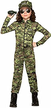 Forum Novelties Child s Army Girl Costume As Shown Medium