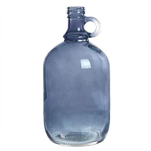 Home Gadgets Botella Decorativa Cristal Azul 27 cm