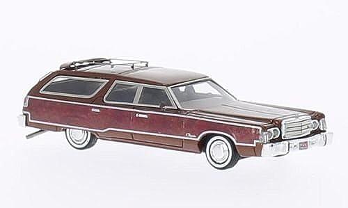 Chrysler Town & Country, met.-kupfer Holzdekor , 1976, Modellauto, Fertigmodell, Neo 1 87