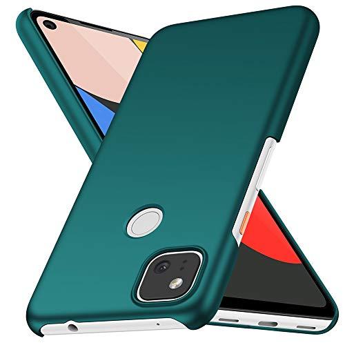 ORNARTO Hülle für Pixel 4a(4G), Ultra Dünn Schlank Anti-Scratch FeinMatt Einfach Handyhülle Abdeckung Stoßstange Hardcase für Google Pixel 4a(4G)(2020) 5,8 Zoll Grün