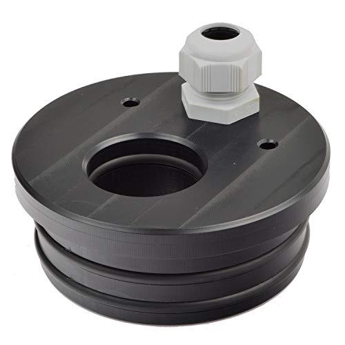 Agora-Tec® Brunnendeckel für 4 Zoll DN 100 Brunnenrohr für 32 mm PE-Rohr