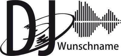 GRAZDesign Deko Aufkleber DJ mit Wunschnamen - Wandsticker Geschenk Musiker - Wandtattoo DJ Geschenkidee / 86x40cm / 070 schwarz