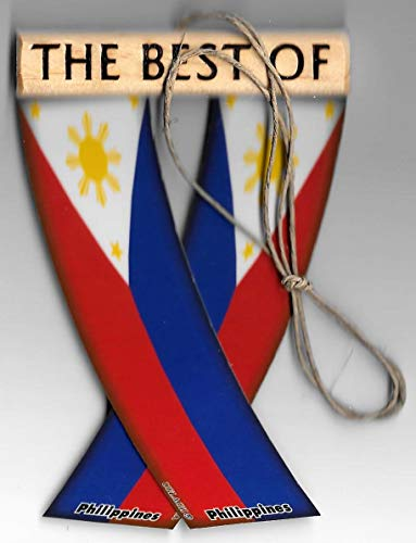 PHILIPPINES FILIPINAS FILIPINO ASIAN PACIFIC ISLANDER REARVIEW MIRROR MINI BANNER HANGING FLAGS FOR THE CAR UNITY FLAGZ™..