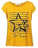 Van Der Rich ® - T-Shirt Camiseta Estampada (Made in Italy) - Mujer (Mostaza, XL)