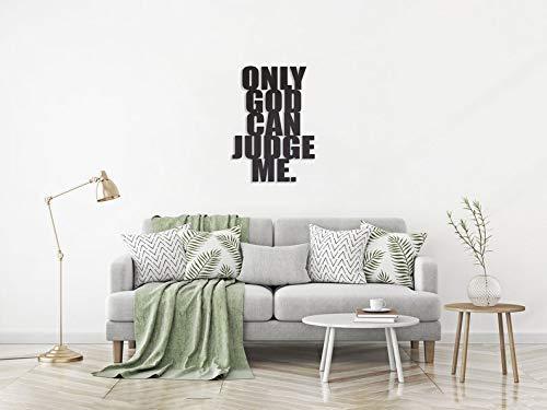 Ced454sy Only God Can Judge Me Decoración de pared de metal, regalo de calentamiento de la casa, decoración de pared que consta de escritos decoración de metal, textart decoración de pared de metal