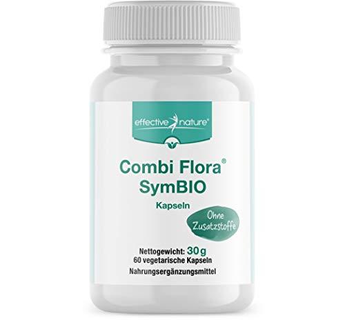 effective nature - Combi Flora SymBIO - Mit 4 Mrd. Darmbakterien und Bio-Inulin - vegan - 60 Kapseln