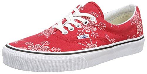 Vans Era, Zapatillas Unisex Adulto, Rojo (Van Doren/Skull Snowflake/Racing Red), 36 EU