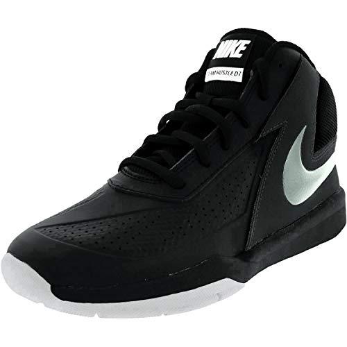 Nike Boy's Team Hustle D 7 Basketball Shoe (10.5c-3y) Black/White/Metallic Silver Size 3 M US