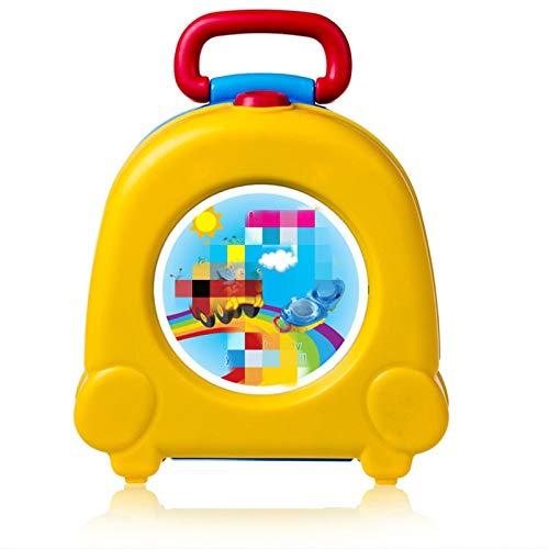 Gu3Je Gute Qualität Bebé Lindo Portátil Viajes Bebé Potty Car Squatty Niño Niño Potty Entrenamiento Chicas Niño Potty para niño y niña (Color : Yellow)
