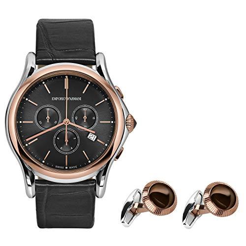 Emporio Armani Swiss orologio uomo cronografo set con gemelli ARS4016