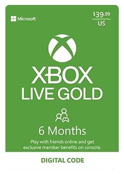 Xbox Live Gold  6 Month Membership [Digital Code]