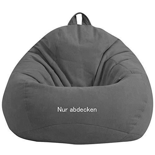 WOWCROSS Outdoorer Sitzsack Bezug ohne Füllung, 420D wasserdichtes Oxford Gartenmöbel Riesen-Sitzsack-Hülle für Kinder und Erwachsene, Kein Füllstoff,70 * 80cm