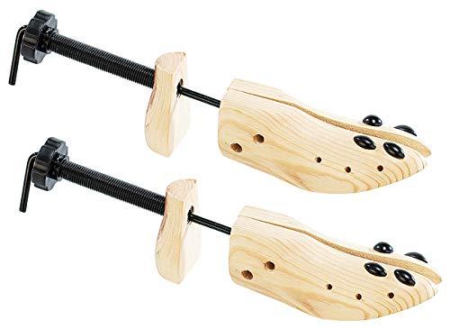 Infactory - Set di 2 paia di stivali a vite in vero legno per scarpe da uomo