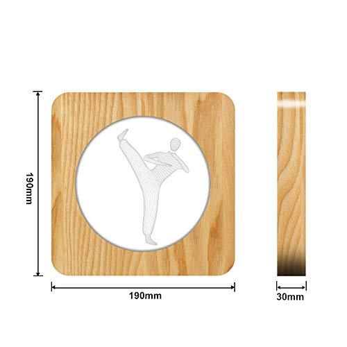 Judo Karate 3D LED Lampada arylic Lampada da tavolo USB per intaglio della lampada per la decorazione della stanza ns
