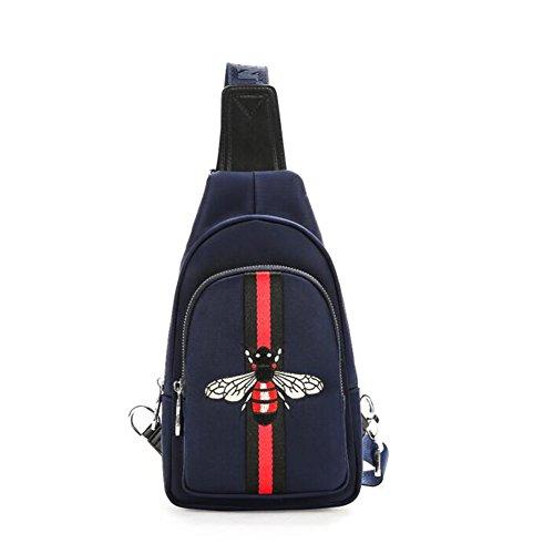 QIDI Pack Poitrine Croix Oblique Polyester Loisirs Mode Sac pour Homme Sac À Bandoulière (Couleur : Blue)