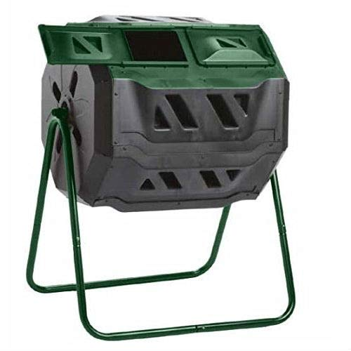 Review Of Fast Furnishings Outdoor 43-Gallon Compost Bin Tumbler for Home Garden Composting
