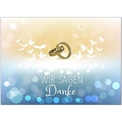 15 x Hochzeits-Dankeskarten - ### - Danksagungskarten für Ehepaare um Danke zu sagen nach Hochzeit, Polterabend oder Hochzeitsfeier