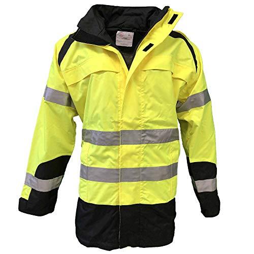 H und K Warnschutz-Parka Jacke Arbeitsjacke Gelb/Schwarz XL-5XL, Größe:XL