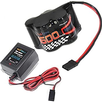 Powerhobby 5 Cell 6V 1600mAh NiMH Hump Receiver Battery Pack with Charger