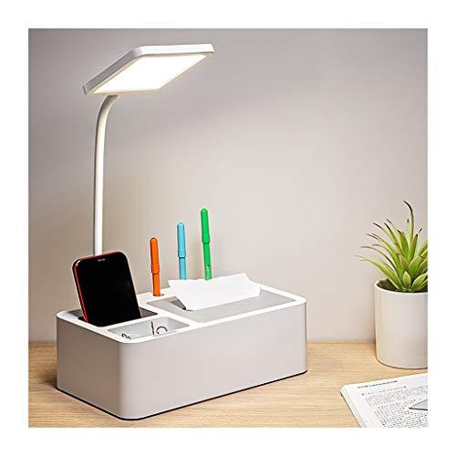 Lámpara de Escritorio Led Escritorio Lámpara LED Modos de color 3 360 ° manguera flexible de metal con la pluma y el reloj Holde lámpara de escritorio for los estudiantes, de lectura del dormitorio
