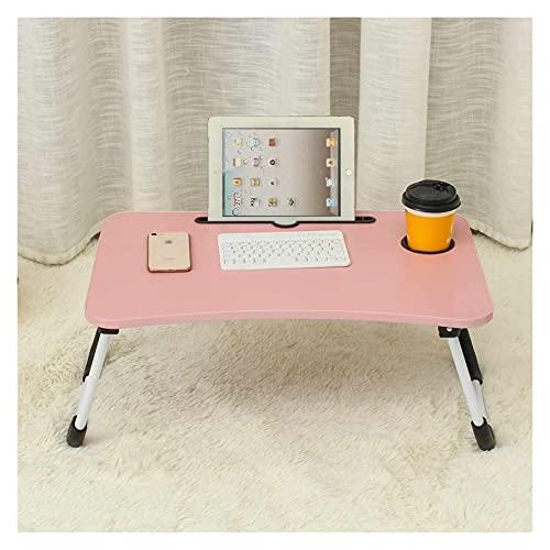 WSZMD 60 X40 X28 Cm Cama Pequeña Mesa Computadora Portátil Mesa Dormitorio con Escritorio Plegable Colegable Estudiante Dormitorio Cama Bandeja Mesa, Computadora Escritorio (Color : Pink)