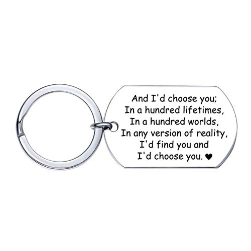 XGAKWD Anniversary Gifts for Men - Engraved Keychain with Romantic Quotes - Birthday, Wedding Gifts for Men, Boyfriend, Husband Key Chain Gifts from Wife