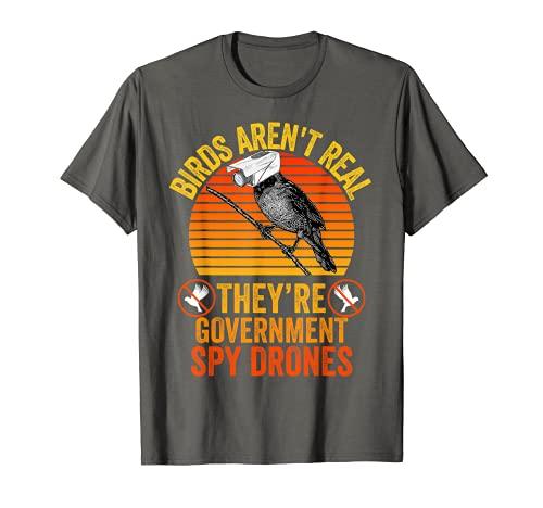 Gli uccelli non sono veri cospirazione teoria governo spia drone Maglietta