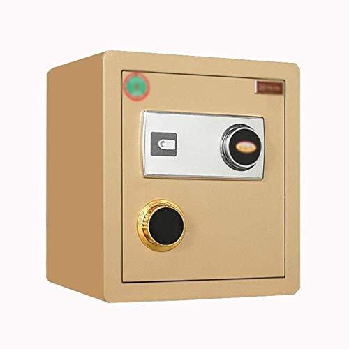 Cajas fuertes para gabinetes, cajas fuertes, caja fuerte grande, contraseña mecánica, oficina en casa, negocios, 40 cm de alto, caja de seguridad, mesita de noche, gabinete de acero completo, caja de