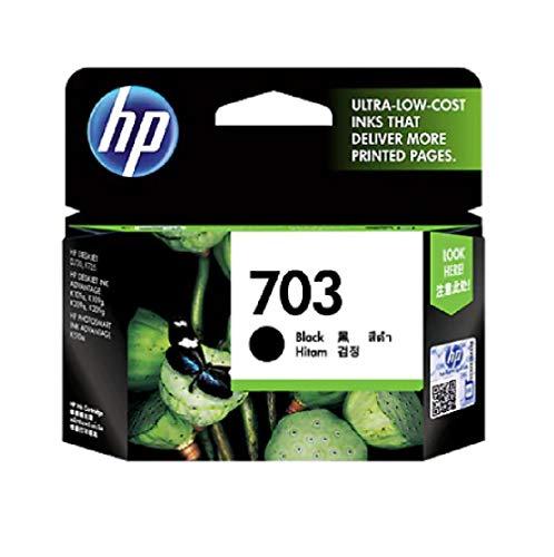 HP 703 Black Ink Cartridge CD887AA 703 Bk