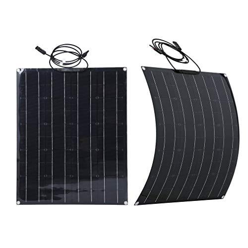 60w 18v Flexibles Solarpanel monokristallines Solarmodul für Boot, Yacht, Camping, Caravan, Wohnmobil, Outdoor-Ladegerät