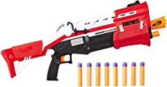 Dart-blasting replica of the Fortnite blaster: this its blaster is inspired by the blaster used in the popular Fortnite video game Pump-action 4-dart blasting: blast 4 darts in a row from this 4-dart, pump-action blaster that's hand-powered by you (n...
