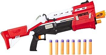 NERF Fortnite Ts Blaster -- Pump Action Dart Blaster 8 Official Mega Fortnite Darts Dart Storage Stock -- for Youth Teens Adults