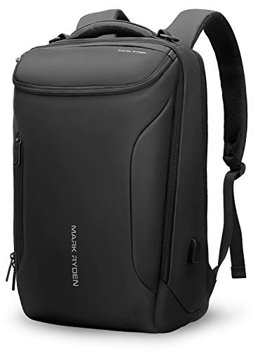 MARK RYDEN Men's Backpack Waterproof Business Backpack with YKK Zipper, 1.8 gal (30 L), Large Capacity, Anti-theft Laptop Bag for 17 inch Computers, Black - black