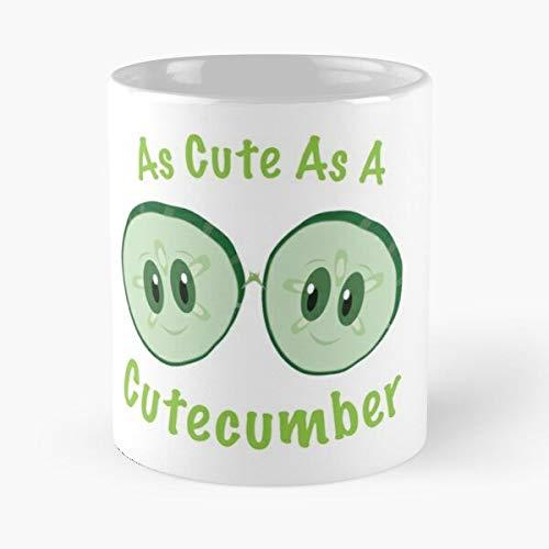 Cute As A Cutecumber Classic Mugh - 11 Ounces Funny Coffee Mug Gag Gift.The Best Gift for Holidays.