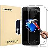 [3 Pièces] Verre Trempé iphone 8 Plus / 7 Plus, MaxTeck Film Protection en Verre trempé écran Protecteur Vitre pour...