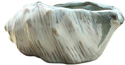 CHENTAOCS Mediterranean Fleshy Flower Pot, Simple Creative Shell Conch Ceramic Pot, Green Plant Meat Pottery Pot (Color : E)