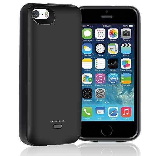 HYZJA Coque de batterie pour iPhone SE 5S 5 4000 mAh Coque de chargement pour iPhone 5 5S SE Rechargeable Portable Power Bank