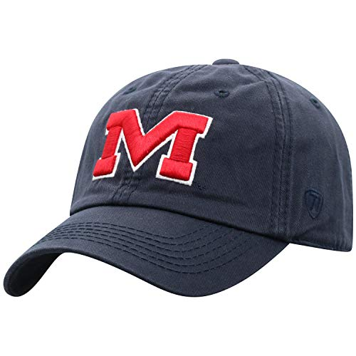 Top of the World Mississippi Old Miss Rebels Men's Relaxed Fit Adjustable Hat Team Color Secondary Icon, Adjustable