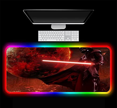 Alfombrillas de ratón Black Soldier Cool RGB LED Teclado para Juegos Computación Tableta Notebook Escritorio Mat 700X300X4 mm