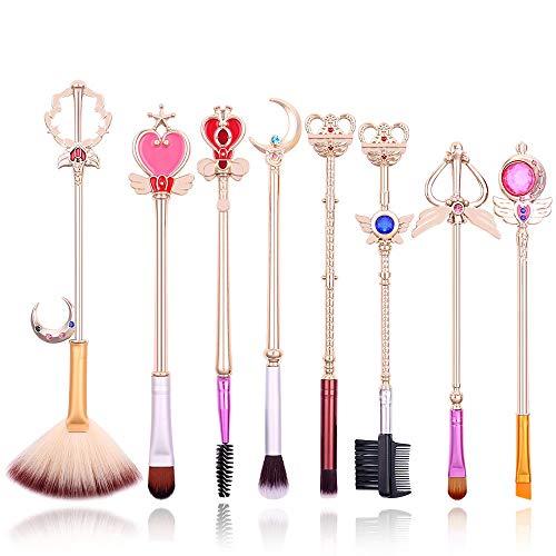 Brochas Maquillaje Doradas marca rongji jewelry