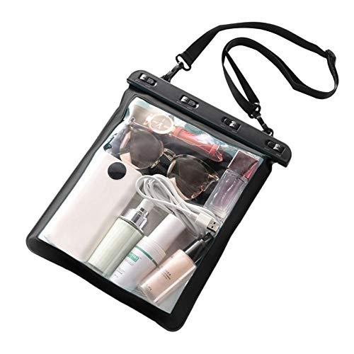 Bolsa impermeable, funda protectora para la playa, funda para teléfono móvil con cinta para llaves, bolsa seca, bolsa impermeable para deportes acuáticos, playa, natación, navegación, 25 x 23 cm