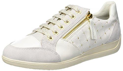 Geox D Myria B, Zapatillas Mujer, Blanco Off White/White