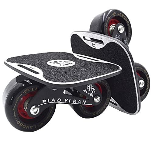 4代 ドリフトスケート ミニ スケボー 分体式 スケートボード LangBo 非発光タイプ 黒