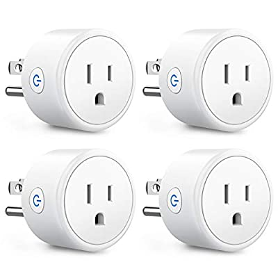 Save 40% Aoycocr Smart Home Mini Wifi Outlets with Alexa and Google - No Hub Required