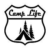 Pegatinas de coche de 20 cm de campamento vida camping calcomanía para su coche, camión, caravana, viaje, remolque o ventana