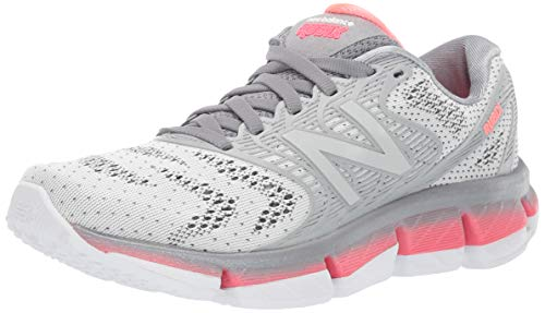 New Balance Women's Rubix V1 Running Shoe, White/Steel/Guava, 12 B US