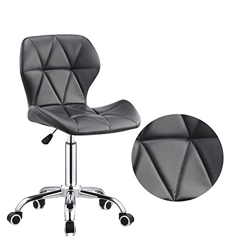 Xiaolin Simple et Pratique 360 ° pivotant télésiège Chaise de Bureau à Domicile Dossier Bar Chaise poulie Style (Couleur : Noir)