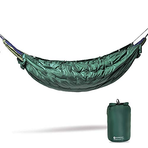 Easthills Outdoors 3 Seasons Cocoon 45F Hammock UnderQuilt, Portable Lightweight Warm Outdoor Camping Quilt (Full Length, Green)