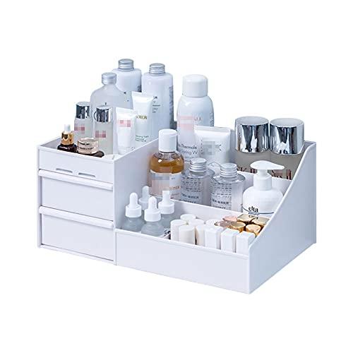 FANGPAN Organizador de Escritorio Caja de Almacenamiento de Maquillaje de plástico para Almacenamiento estacionario Cajón de Gran Capacidad Organizador de artículos Diversos Accesorios de Oficina